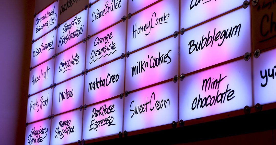 Eating Through TO Knockout Ice Cream Menu