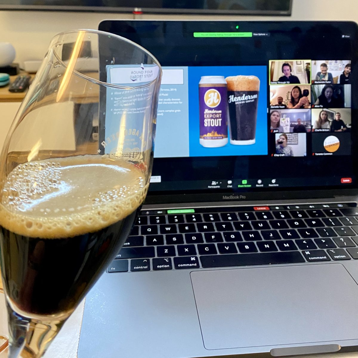 Virtual Beer Tasting Dark Beer