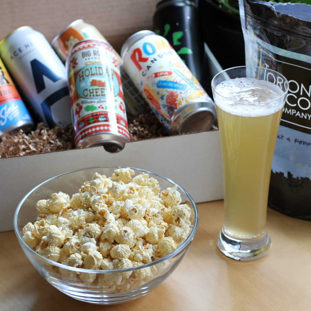 Virtual Craft Beer Tasting Toronto Popcorn