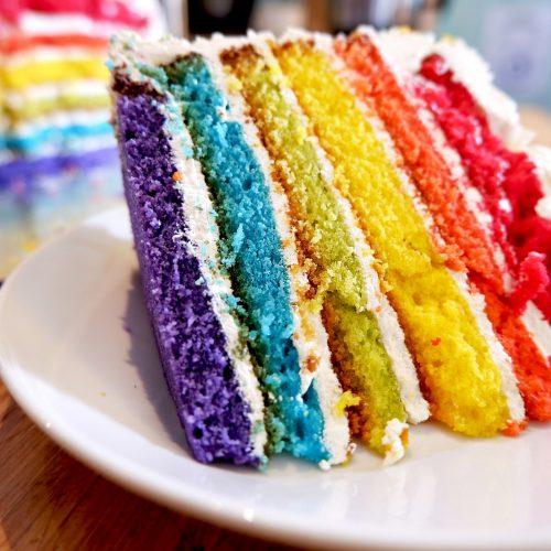 Wanda's Pie in the Sky Rainbow Cake